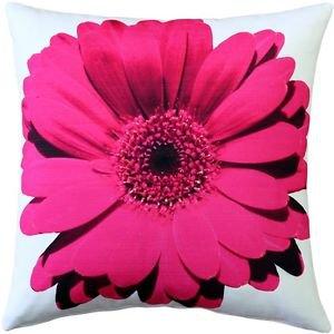 Pillow Decor - Bold Daisy Flower Pink Throw Pillow 20X20  - SKU: PD2-0064-05-20