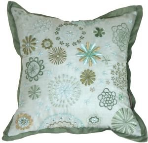 Pillow Decor - Floral Delight Green Pillow  - SKU: IC1-0004-02-12