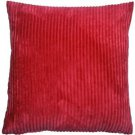 Pillow Decor - Wide Wale Corduroy Red 22x22 Throw Pillow  - SKU: WD1-0001-12-22