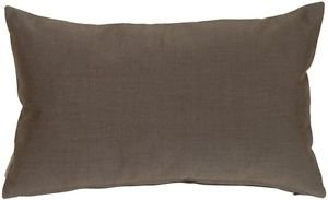 Pillow Decor - Sunbrella Coal Black 12x20 Outdoor Pillow  - SKU: PD1-0002-06-92