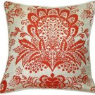 Pillow Decor - Rustic Floral Orange 20x20 Throw Pillow  - SKU: VC1-0003-03-20