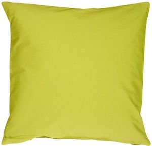 Pillow Decor - Caravan Cotton Lime Green 23x23 Throw Pillow
