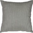 Pillow Decor - Ticking Stripe Wedgewood Blue 18x18 Throw Pillow