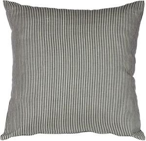 Pillow Decor - Ticking Stripe Wedgewood Blue 15x15 Throw Pillow