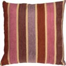 Pillow Decor - Savannah Stripes 20x20 Pink Purple Chenille Throw Pillow