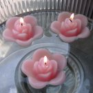 12 Light Pink Floating Rose Wedding Party Candles candle