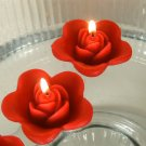 12 Red Floating Rose Wedding Party Candles candle