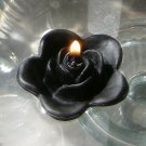 12 Black Floating Rose Wedding Party Candles candle