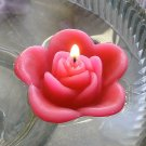 12 Hot Pink Floating Rose Wedding Party Candles candle