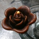 12 Chocolate Brown Floating Rose Wedding Party Candles candle