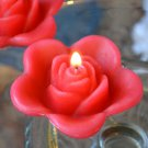 12 Guava Floating Rose Wedding Party Candles candle