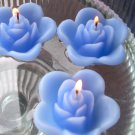 12 Periwinkle Floating Rose Wedding Party Candles candle