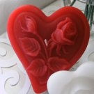 12 Red Floating Heart& Roses Wedding Party Candles candle