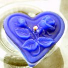 12 Blue Floating Heart& Roses Wedding Party Candles candle