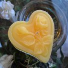 12 Sun Yellow Floating Heart& Roses Wedding Party Candles candle