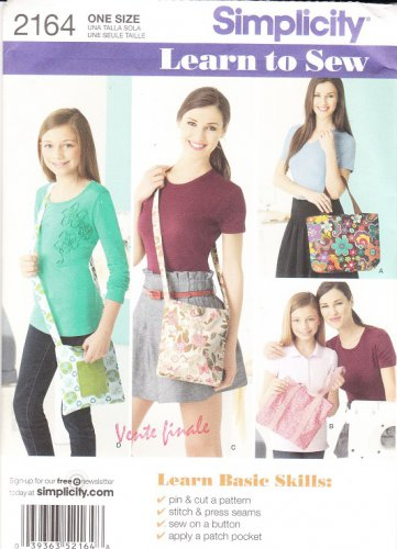 Simplicity 2164 Bags Sewing Pattern