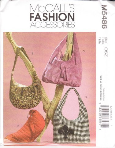 McCall�s 5486 Hobo Bags Sewing Pattern