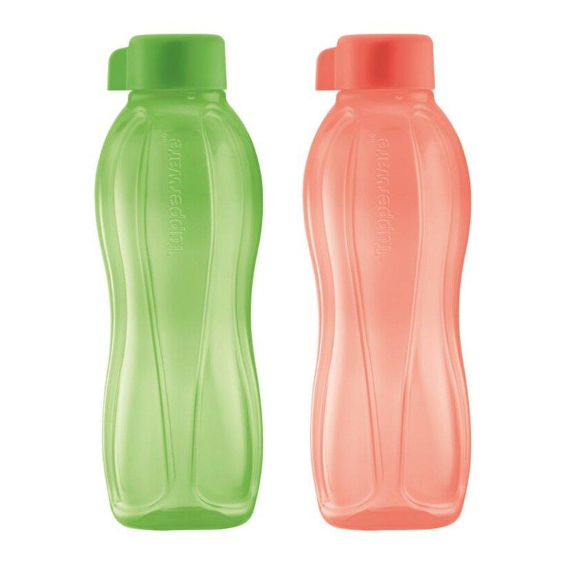 Tupperware Eco Bottle Drinking Bottle 500ML (Salmon & Honey Dew)