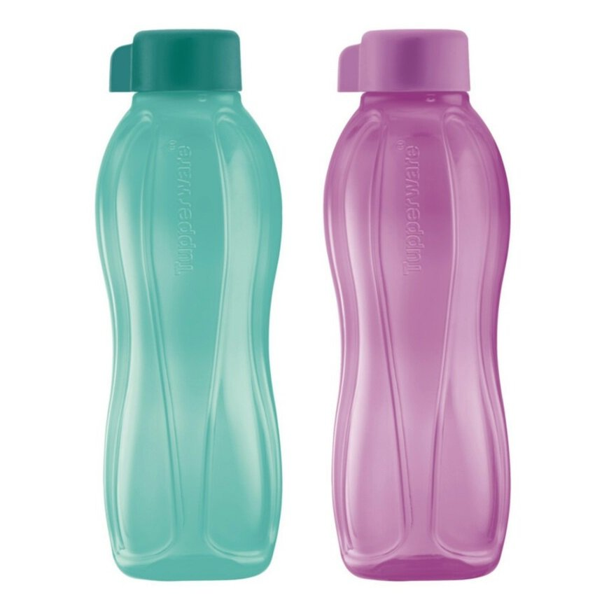 Tupperware Eco Bottle Drinking Bottle 750ML (Green & Purple)
