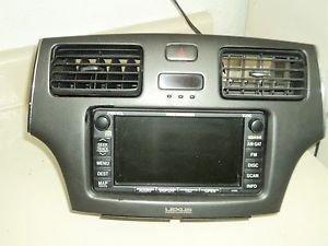 03 LEXUS ES300 GPS VOICE  NAVIGATION HEAD UNIT CD PLAYER AM/FM RADIO OEM