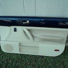 02 Volkswagen Beetle Passenger Right Front Door Panel Trim Blue/light beige