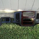 02-05 DODGE RAM  CENTER DASH RADIO BEZEL TRIM PANEL WOOD FINISHED W/DARK SLATE