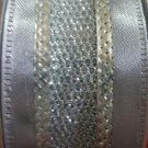 "3 Holiday Cheer Silver/gray Ribbon,glitter Mesh,wire Edge (1.5"" X 30ft.)"