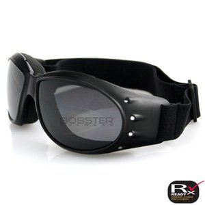 Cruiser Goggles, Black Frame, Anti-Fog Smoked Reflective Len