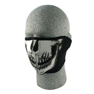 Half Mask, Neoprene, Glow In The Dark, Skull Face