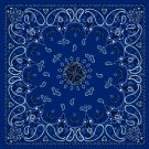 Bandanna, Cotton, Navy Paisley
