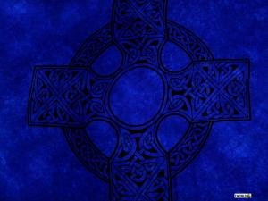 Celtic Sarong, Celtic Cross Royal Blue