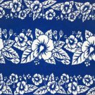 Hibiscus Sarong Blue / White Hi-38