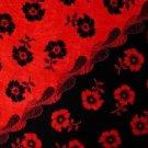 Hibiscus Sarong Red / Black - Hi-15