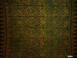 Abstract Tribal Sarong Greenish