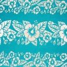 Hibiscus Sarong Turquoise / White Hi-37