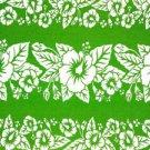 Hibiscus Sarong Green / White Hi-36