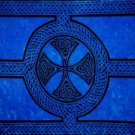 Celtic Sarong, Celtic Cross And Circle Blue