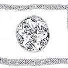 Celtic Sarong, Horses Black / White