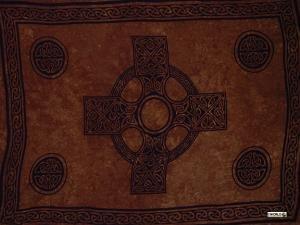 Celtic Sarong, Celtic Cross 2 Deep Brown