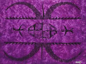 Tattoo Sarong Royal Purple