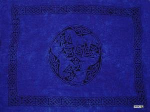 Celtic Sarong, Horses Royal Blue