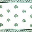 Celtic Sarong, Shamrock Trinity White / Green