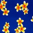 Plumeria Mini Sarong Blue / Yellow