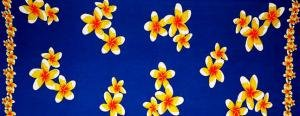 Plumeria Mini Sarong Blue / Yellow