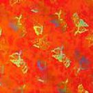 Butterfly Half Sarong Orange / Multi-Color