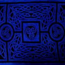 Celtic Circles Sarong, Cool Blue