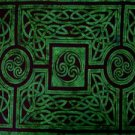 Celtic Circles Sarong, Emerald Green