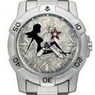 Chrome Biker Watch, Mudflap Chick
