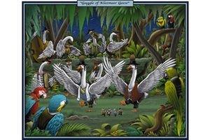 Gaggle Of Klezmeer Geese - 16x24 Giclee Fine Art Print