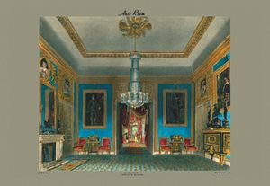 Ante Room - Carlton House (looking North) - 12x18 Framed Print In Black Frame (17x23 Finished)